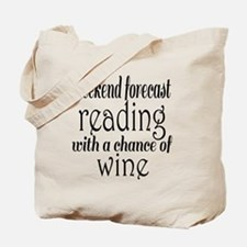 Reading and Wine Tote Bag