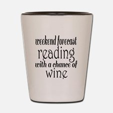 Reading and Wine Shot Glass