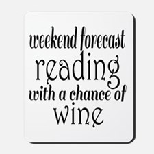 Reading and Wine Mousepad