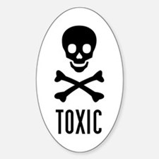 toxic skull Oval Decal