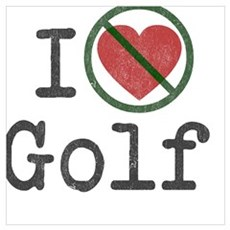 I hate golfing Framed Print