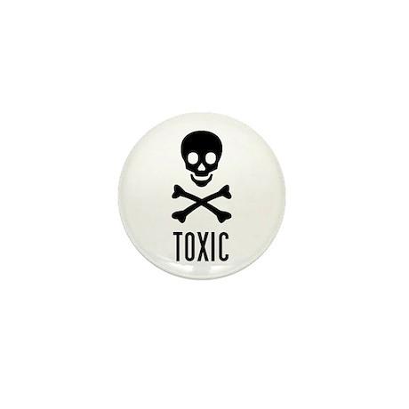 toxic skull Mini Button