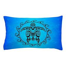 Black Tribal Turtle Pillow Case