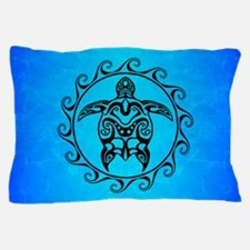 Black Tribal Turtle Pillow Case