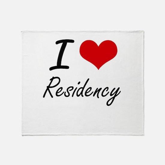 I Love Residency Throw Blanket