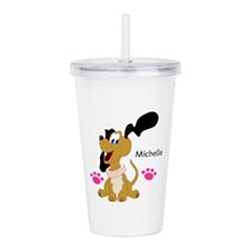 Cute Puppy With Paws Acrylic Double-Wall Tumbler