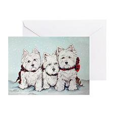 Westie 10 Pk Christmas Greeting Cards