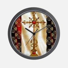 Harvest Moons Renaissance Crosss Wall Clock