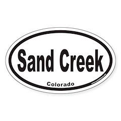 Sand Creek Colorado Euro Oval Decal