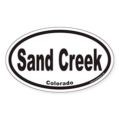 Sand Creek Colorado Euro Oval Decal