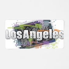 Los Angeles Aluminum License Plate