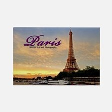 Paris - Eiffel Tower Sunset Rectangle Magnets