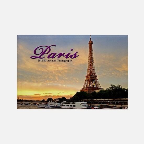 Paris - Eiffel Tower Sunset Rectangle Magnets