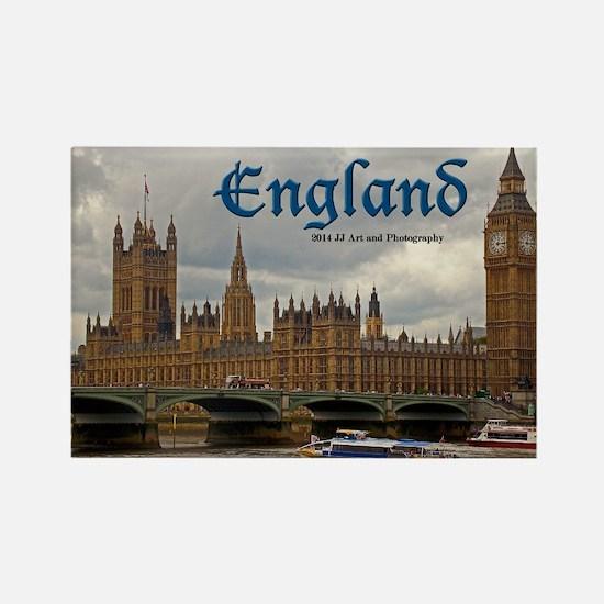 England - Big Ben And Parliament Rectangle Magnets