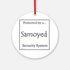 Samoyed Security Ornament (Round)