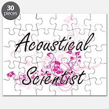 Acoustical Scientist Artistic Job Design wi Puzzle
