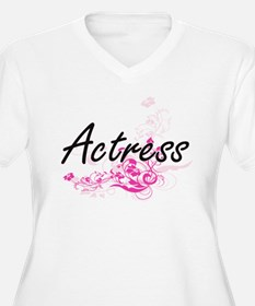 Actress Artistic Job Design with Plus Size T-Shirt