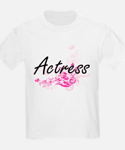 Actress Artistic Job Design with Flowers T-Shirt