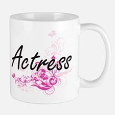 Actress Artistic Job Design with Flowers Mugs
