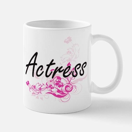 Actress Artistic Job Design with Flowers Mugs