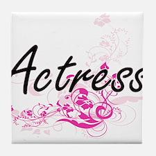 Actress Artistic Job Design with Flow Tile Coaster