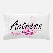 Actress Artistic Job Design with Flowe Pillow Case