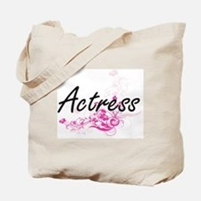 Actress Artistic Job Design with Flowers Tote Bag