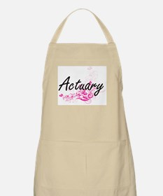 Actuary Artistic Job Design with Flowers Apron