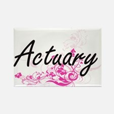 Actuary Artistic Job Design with Flowers Magnets