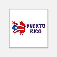 """Unique Puerto rico Square Sticker 3"""" x 3"""""""