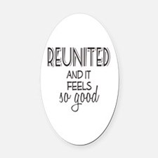 Reunion Oval Car Magnet