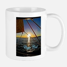 Cape Cod Sailboat Sunset Mug Mugs
