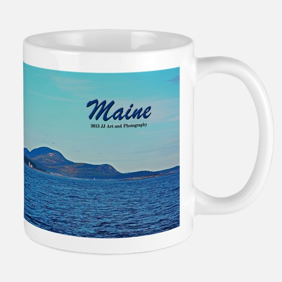 Maine Lighthouse And Mountains Mug Mugs