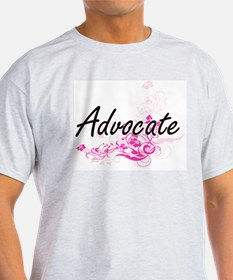 Advocate Artistic Job Design with Flowers T-Shirt