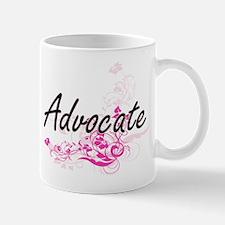 Advocate Artistic Job Design with Flowers Mugs