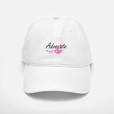 Advocate Artistic Job Design with Flowers Baseball Baseball Cap