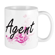 Agent Artistic Job Design with Flowers Mugs