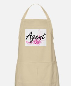 Agent Artistic Job Design with Flowers Apron