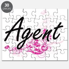 Agent Artistic Job Design with Flowers Puzzle