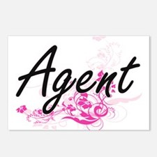 Agent Artistic Job Design Postcards (Package of 8)