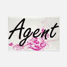 Agent Artistic Job Design with Flowers Magnets