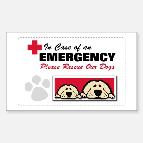 Please Rescue Dogs Rectangle Decal