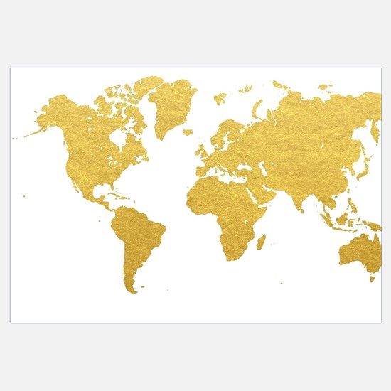 Gold World Map