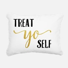 Treat Yo Self Rectangular Canvas Pillow