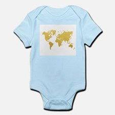 Gold World Map Body Suit