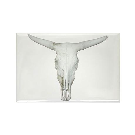 Bull Skull Rectangle Magnet