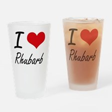 I Love Rhubarb Drinking Glass
