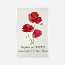 Red Poppy Plant A Garden Quote Magnets