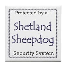 Sheltie Security Tile Coaster