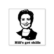 "Cute Bill for first lady Square Sticker 3"" x 3"""